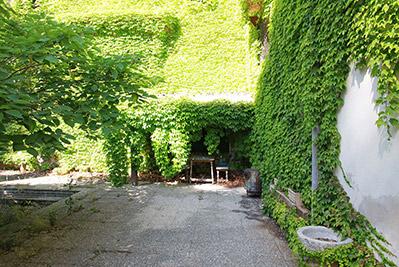 Amplia masía rústica con patio interior en la fuente roja-patio