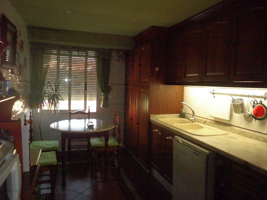 Encantador piso con salón con chimenea en la zona de Santa Rosa-cocina