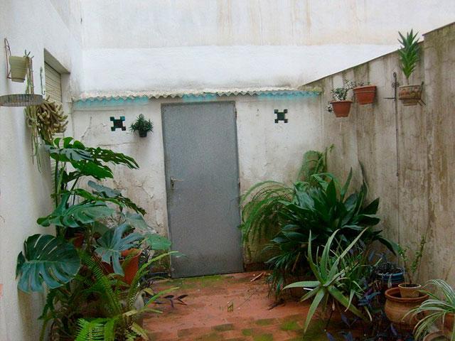 Piso con cocina con patio y galería en Santa Rosa-patio