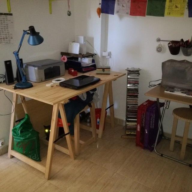 Piso minimalista en Ensanche-despacho