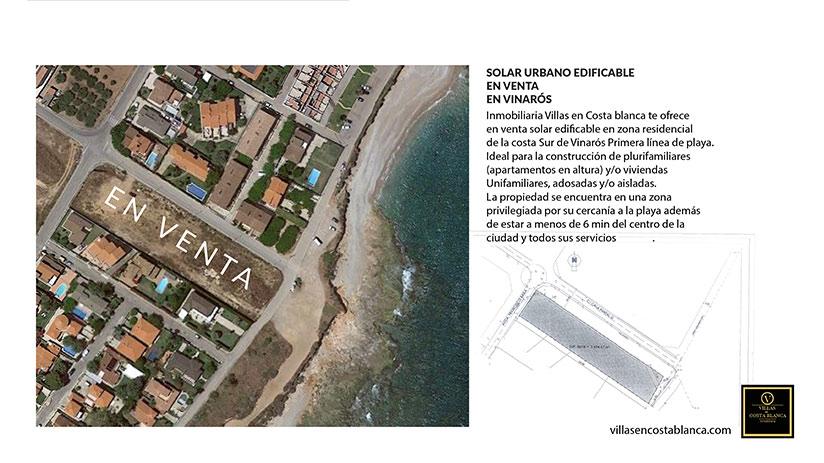 Solar en costa sur de vinaros - andando a la playa plano