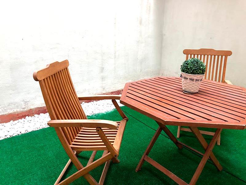 acogedor y hermoso bajo totalmente reformado-terraza