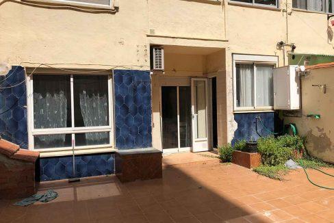 semisótano con terraza en Ensanche-patio