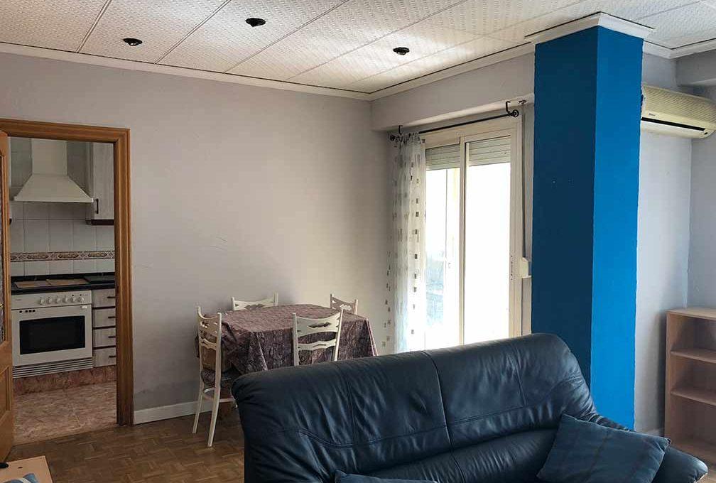 semisótano con terraza en Ensanche-salon2