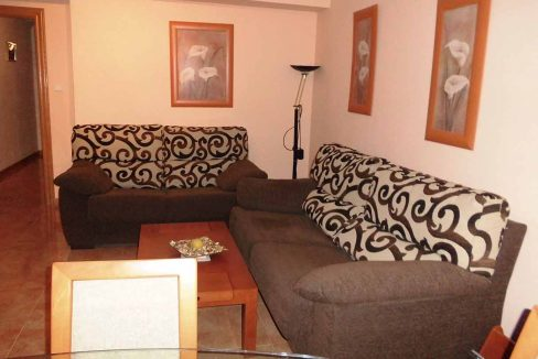 Amplio piso con balcon exterior y buenas vistas en el Romeral-salon2