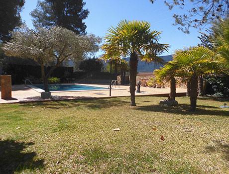 Gran chalet con vistas a la Fuente roja y huerta-piscina2