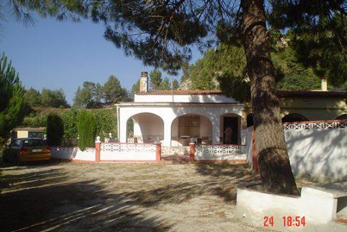 Casa de campo con cocina reformada y barbacoa en Gorga-exterior2