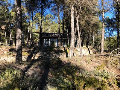 Casa de campo con piscina en el parque natural Mariola-exterior