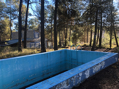 Casa de campo con piscina en el parque natural Mariola-piscina