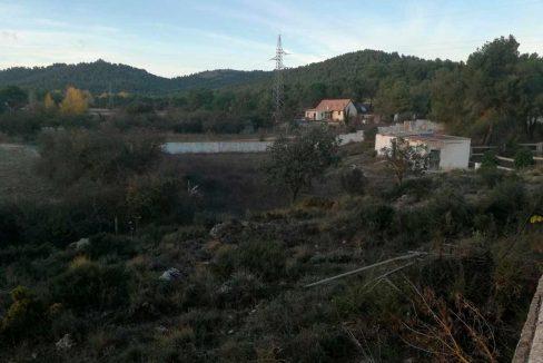 Casa de campo con dos plantas y piscina en Mariola-vistas