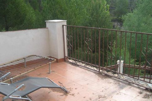 Encantadora y acogedora casa de campo en Cocentaina-terraza